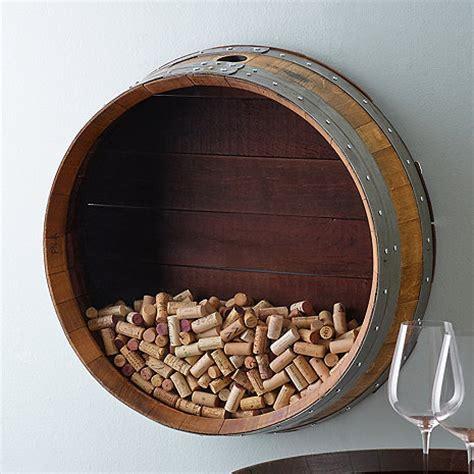Wine Cork Holder Wall Decor by Reclaimed Wine Barrel Cork Collectors Display Wine