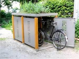 Fahrradgarage Für 4 Fahrräder : holz edelstahl fahrradhaus f r 2 fahrr der ~ Eleganceandgraceweddings.com Haus und Dekorationen