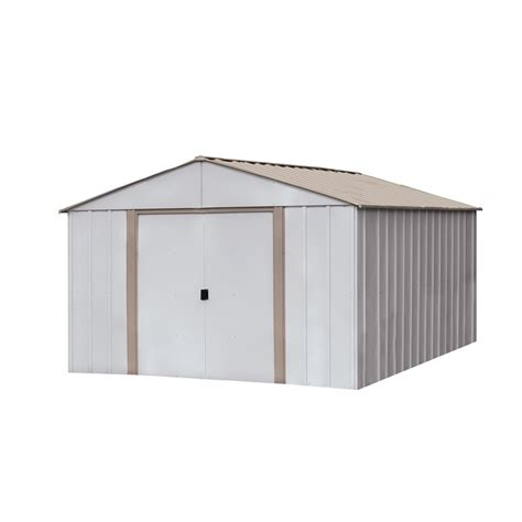 Arrow Galvanized Steel Storage Shed Assembly by Shop Arrow Oakbrook Galvanized Steel Storage Shed Common