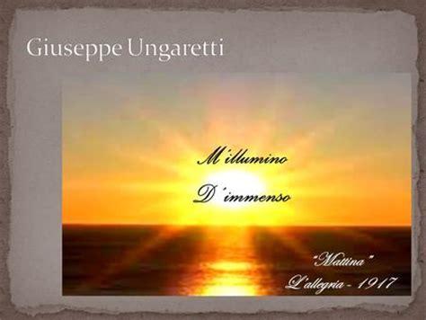 M Illumino D Immenso Quasimodo by Ungaretti Ppt Scaricare