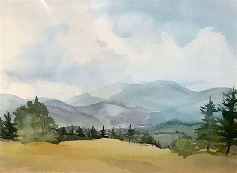 earth  sky watercolors  jacqueline altman opens