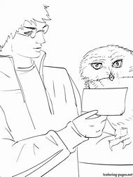 Harry Potter Owl Coloring Pages