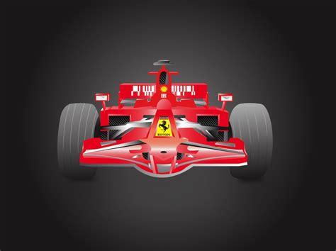 formula  ferrari vector art graphics freevectorcom