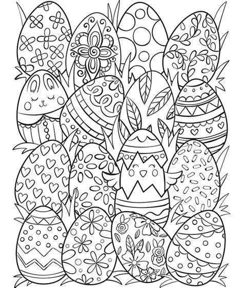 easter eggs surprise coloring page crayolacom