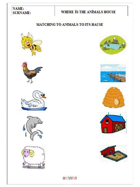animal worksheet new 817 animal homes worksheet for