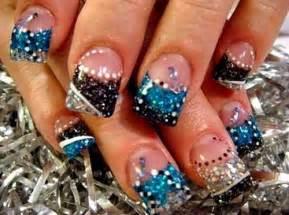 Glitter cute acrylic nail designs art