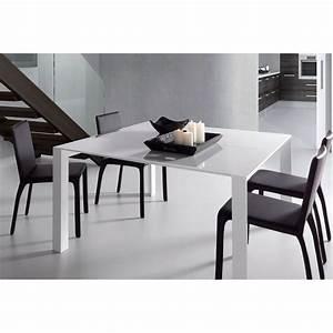 Table Manger Blanche Laque Newport Extensible Par Drawer