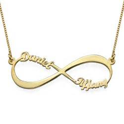 personalized rings for mothers infinity name necklace in gold plating mynamenecklace