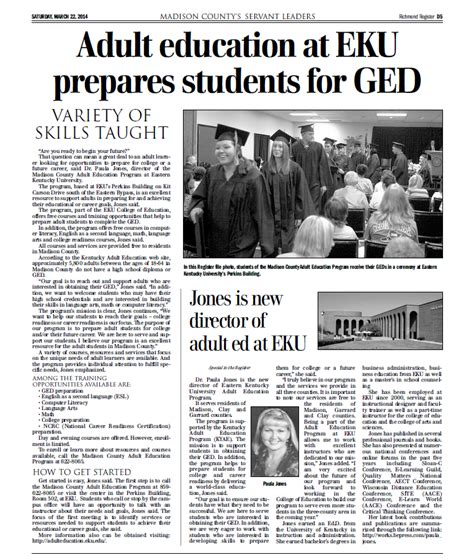 news article march   adult education eastern