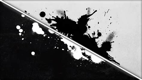 Abstract Black And White Desktop Wallpaper Hd by Digital Abstract Paint Splatter Lines Monochrome