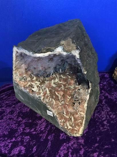 Quartz Geode Pink Drusy Crystals Cdd Crystal