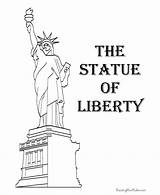 Liberty Statue Coloring Pages Symbols July American 4th Printable Patriotic Sheets Facts Lady Clipart United America Activities Statues History Pdf sketch template