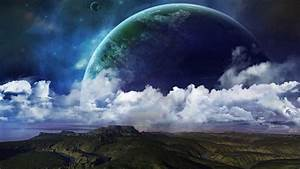Planets Above The Clouds HD Aesthetic Wallpaper Free ...