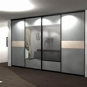 Portes Coulissantes Placard : placard porte coulissante miroir 2 vantaux design ~ Dallasstarsshop.com Idées de Décoration