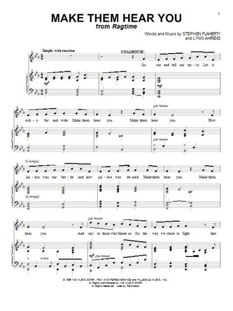 make them hear you sheet music direct