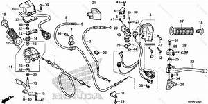Honda Atv 2016 Oem Parts Diagram For Switch    Cable