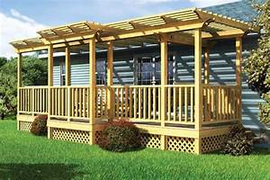 Project Plan 90016 - Parallel Porch Deck w/ Trellis and