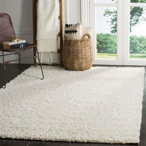 shop safavieh athens shag  white area rug