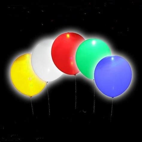 le led pour ballon ballons lumineux led gonflables 6 90 set de 5 ballons lumineux color 233 s pour les f 234 tes