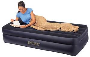 intex queen inflatable raised air bed with built in pump