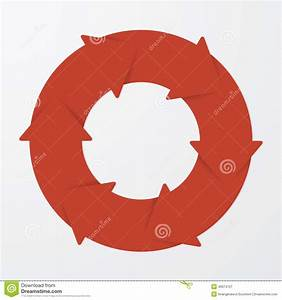 Vector Red Life Cycle Arrow Diagram  8 Steps  Stock