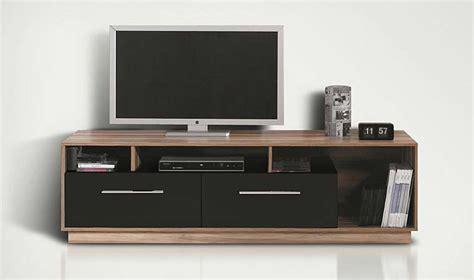 mobilier bureau discount meuble tv bas meuble tl design noir et noyer pas cher