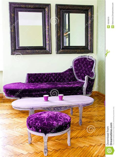 purple furniture stock image image  sofa table room