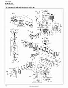 Red Max Bcz2450t 08 S  N 90200101  U0026 Up Parts Diagram For
