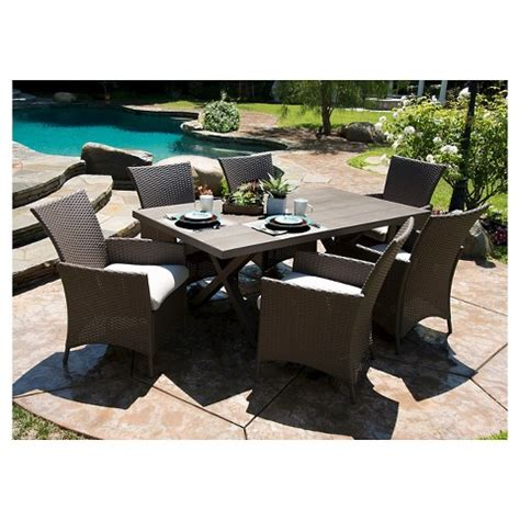 lonsdale 7 faux wood wicker patio dining target