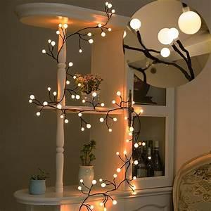 Globe, String, Lights, 8ft, 72, Led, Waterproof, Outdoor, Indoor