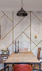 Geometric Concrete by Coordonne - Gold - Mural : Wallpaper ...