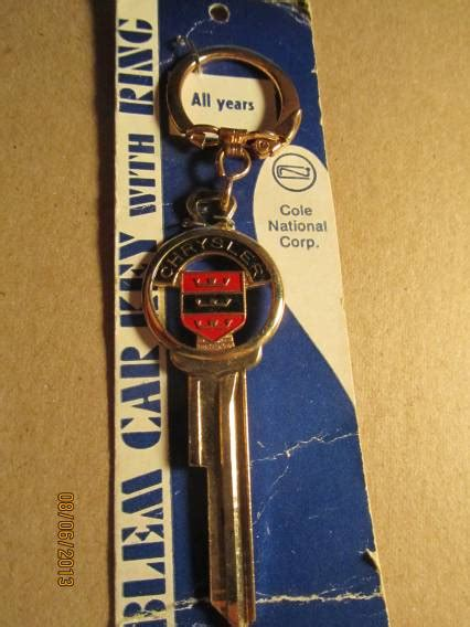 chrysler chrysler vintage gold plated key blank