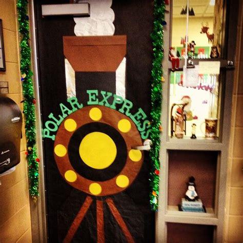 polar express classroom door ideas pinterest