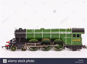A Close Up Of A Hornby Toy Model Electric Steam Train