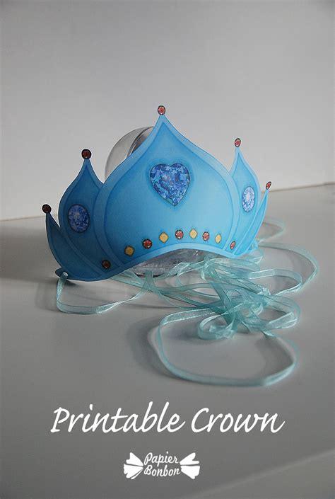 printable crown frozen blue papier bonbon