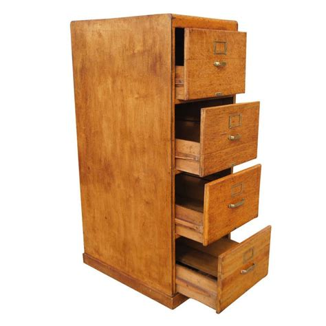 wooden cabinet with drawers vintage pine wood four drawers file cabinet at 1stdibs
