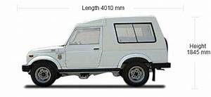 Maruti Gypsy technical specifications and fuel economy