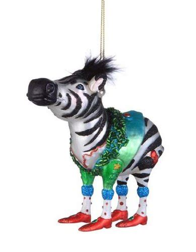 zebra christmas holiday ornament christmas