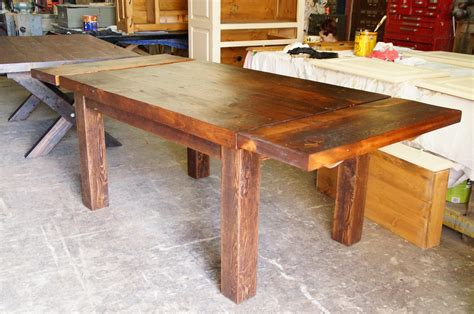 table de cuisine dessus en vieux bois n 1002 le géant