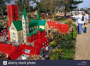 Ribe Village Made Up Of Lego Pieces In Legoland Park In Billund Stock Photo  15586585