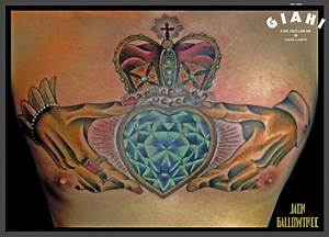 Royal Crown Dimond Heart tattoo by Jack Gallowtree | Best ...