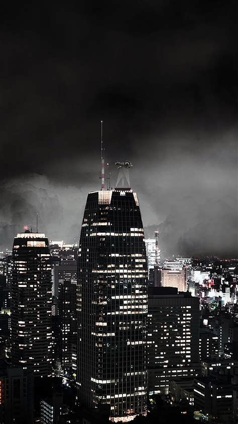 gothic night city android wallpaper