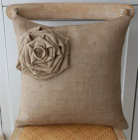 etsy pillow covers big burlap flower pillow cover by secdus on etsy