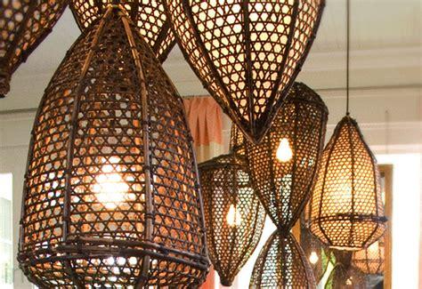 fishing basket lamps indonesian chandeliers baskets lamp pendant robbins tucker teardrop into rattan transforms inhabitat slideshow architecture start lampshade