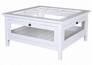 Table Salon Carrée : acheter votre table basse carr e en pin massif blanche avec verre chez simeuble ~ Teatrodelosmanantiales.com Idées de Décoration