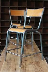 Chaise D école : serie de 6 ancienne chaise haute d 39 ecole laboratoire de biologie ~ Teatrodelosmanantiales.com Idées de Décoration