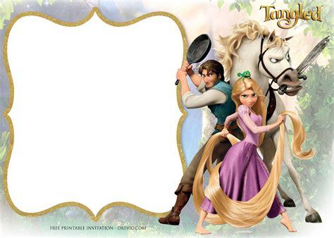 printable princess rapunzel invitation templates
