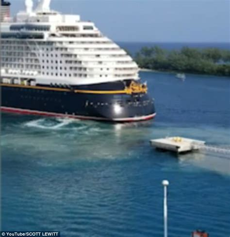 Disney Cruise Ship Collides With Metal Pier In The Bahamas ...