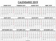 Calendario 2019 para imprimir – Descargar calendarios