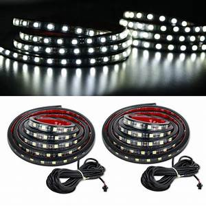 2 White Led Light Kit Cargo Truck Bed Strip For Gmc